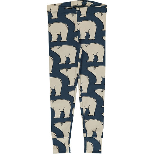Cuff Leggings - POLAR BEAR - Maxomorra