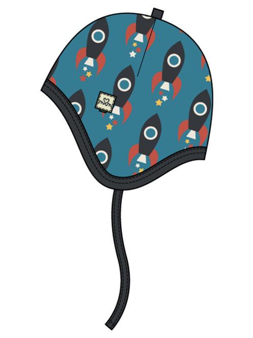 Helmet Hat Velour - MOON ROCKET - Maxomorra