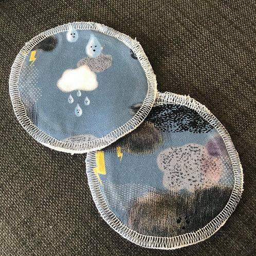 Reusable Breast Pads - A Bit Nippy Blue - Love Leo