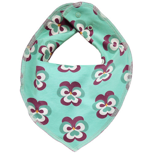 Dribble Bib Velour - PURPLE PANSY - Maxomorra