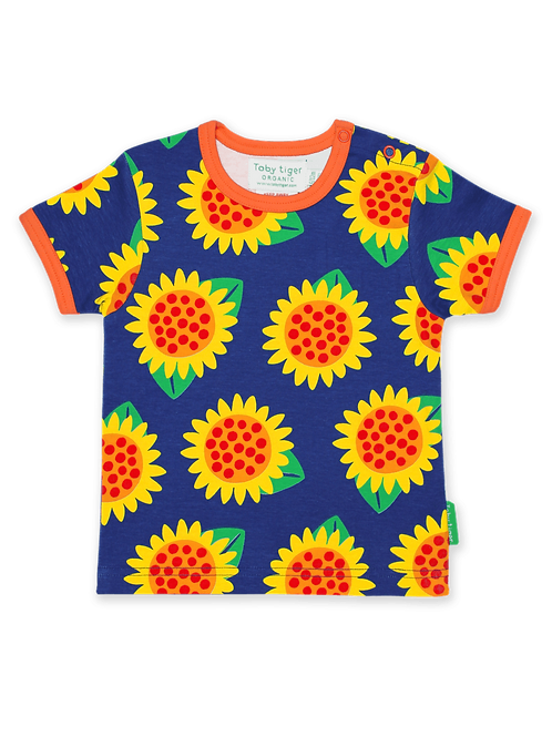 Sunflower Print T-shirt - Toby Tiger