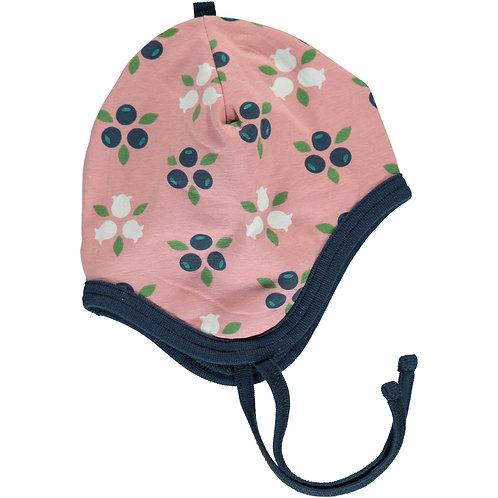 Helmet Hat Velour - BLUEBERRY BLOSSOM - Maxomorra