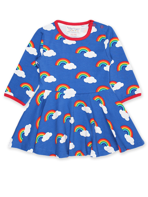 Rainbow Print Skater Dress - Toby Tiger