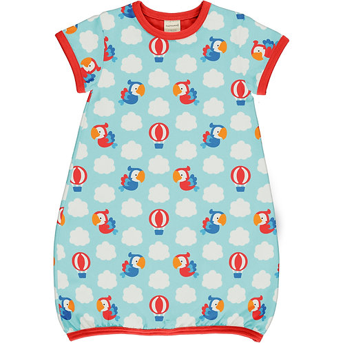 Dress Balloon LS - PARROT SAFARI - Maxomorra
