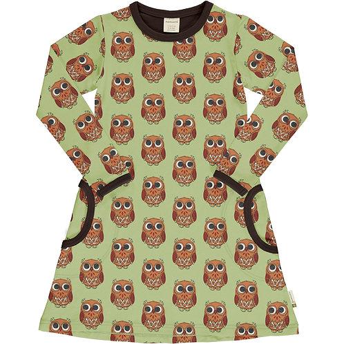 Dress LS - OWL - Maxomorra