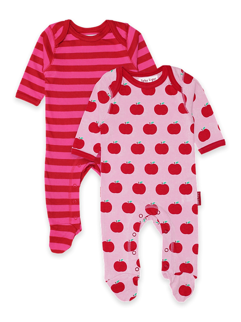 Apple 2-Pack Babygrow - Toby Tiger