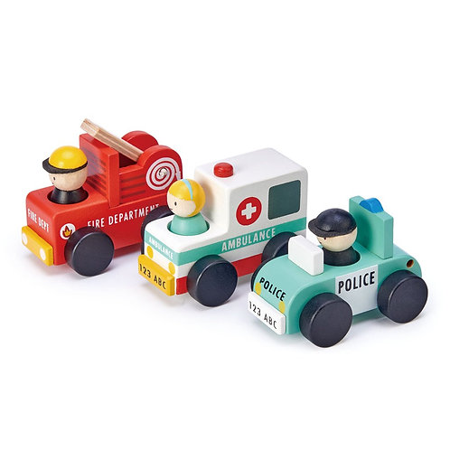 Emergency Vehicles - Tender Leaf Toys