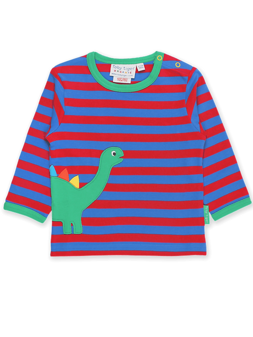 Dino Applique LS T-Shirt - Toby Tiger