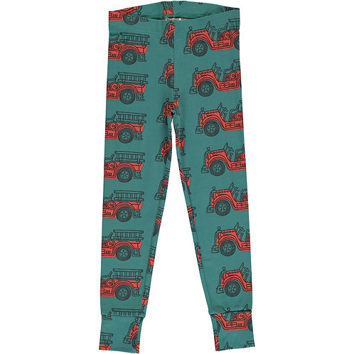 Cuff Leggings - VINTAGE FIRE TRUCK - Maxomorra