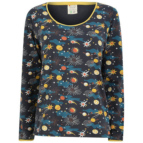 Adult Fitted Top - SOLAR SPACE - Piccalilly