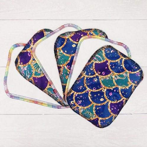 Reusable Baby Wipes - MERMAID SCALES - Sparkly & Co