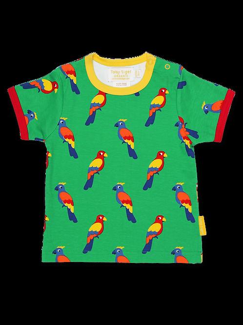 Parrot Print T-shirt - Toby Tiger