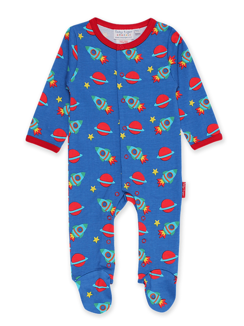 Space Print Babygrow - Toby Tiger