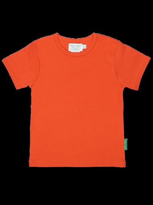 Orange Basic T-shirt - Toby Tiger