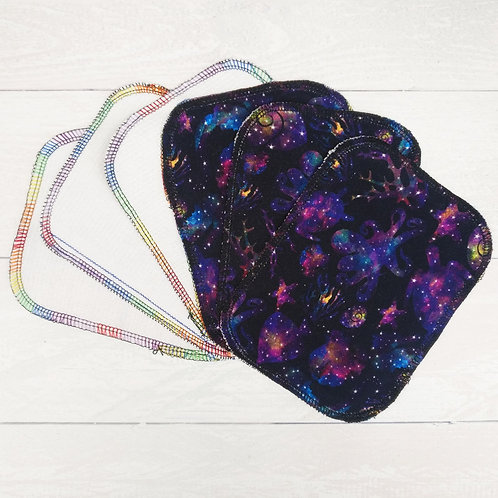 Reusable Baby Wipes - SPACE TENTACLES - Sparkly & Co