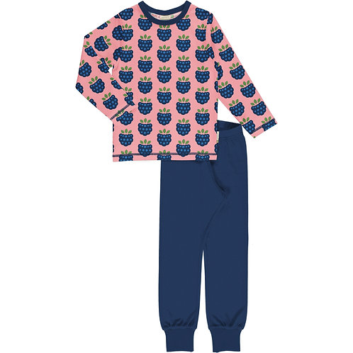Pyjama Set LS - BLACKBERRY - Maxomorra
