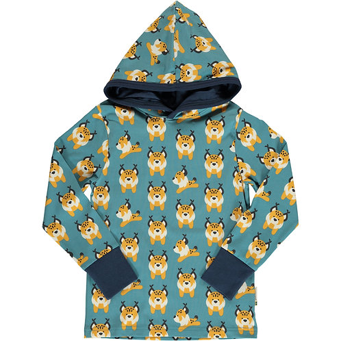 Top LS Hooded - LIVELY LYNX - Maxomorra