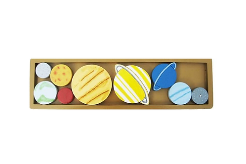 Wooden Solar System Planets Tray