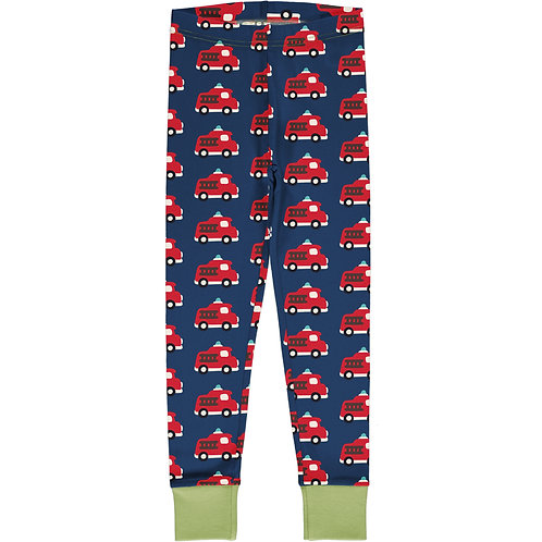 Cuff Leggings - FIRE TRUCK - Maxomorra