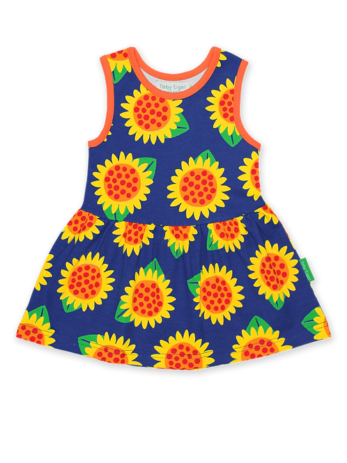 Sunflower Print Summer Dress - Toby Tiger