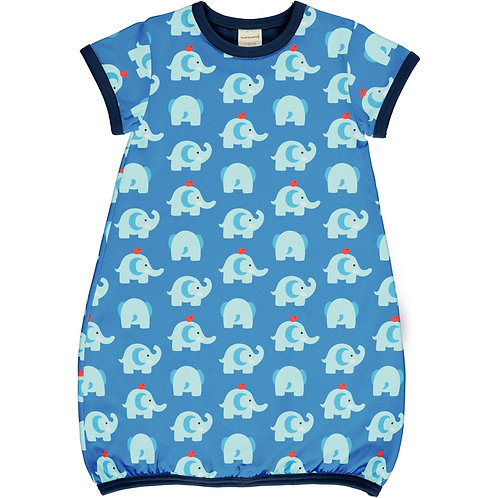 Dress Balloon LS - ELEPHANT FRIENDS - Maxomorra