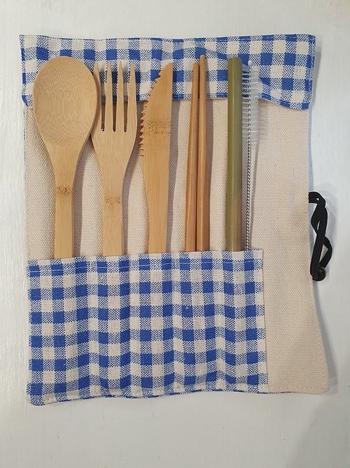 Bamboo Cutlery Set 7 piece - Picnic Blanket