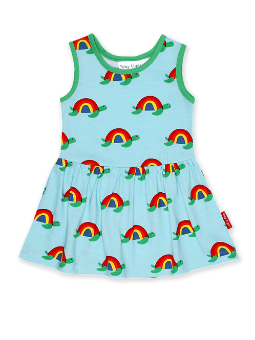 Multi Turtle Print Summer Dress - Toby Tiger