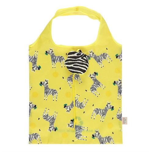 Ziggy Zebra Foldable Shopping Bag