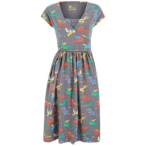 Women's Wrap Dress - MYTHICAL CREATURES - Piccalilly