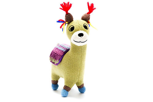 Llama - Knitted Toy - Pebble Toys