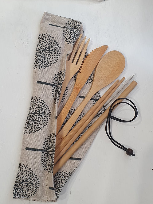 Bamboo Cutlery Set 7 piece - Treetime
