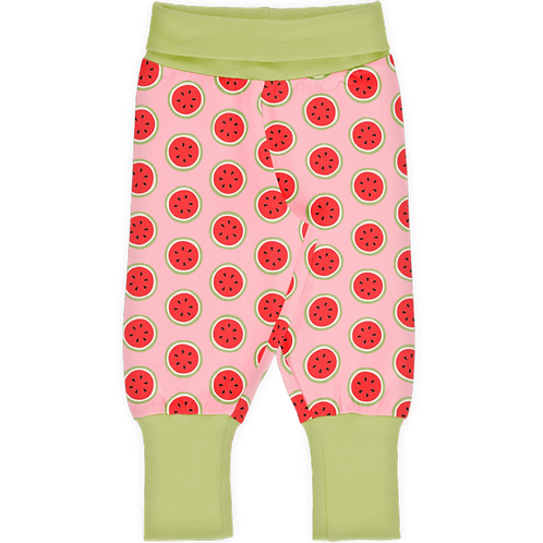 Rib Pants - WATERMELON - Maxomorra