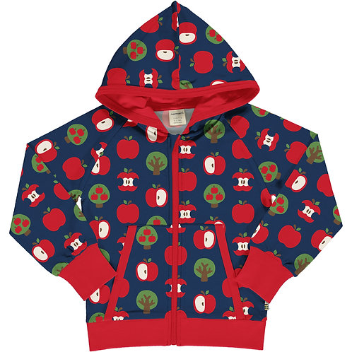 Cardigan LS Hooded - APPLE - Maxomorra