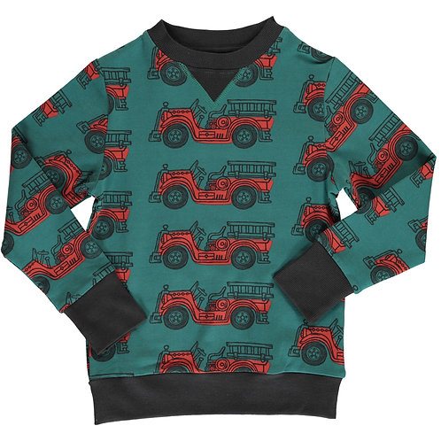 Sweatshirt - VINTAGE FIRE TRUCK - Maxomorra