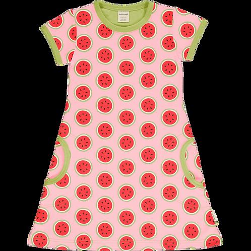 Dress SS - WATERMELON - Maxomorra