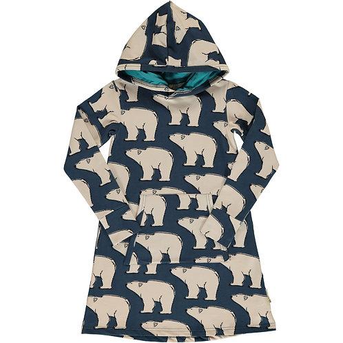 Dress Hoodie Sweat - POLAR BEAR - Maxomorra