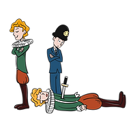 police and Shakespeare _transparant_ 300