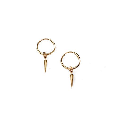 Tiny Spike Hoop Earrings