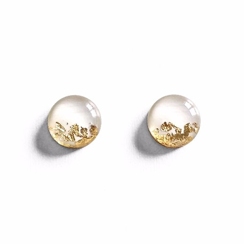 White Leaf Dipped Studs
