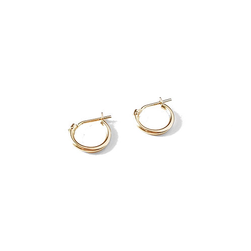 14k Solid Yellow Gold Hoops - 1mm Thick