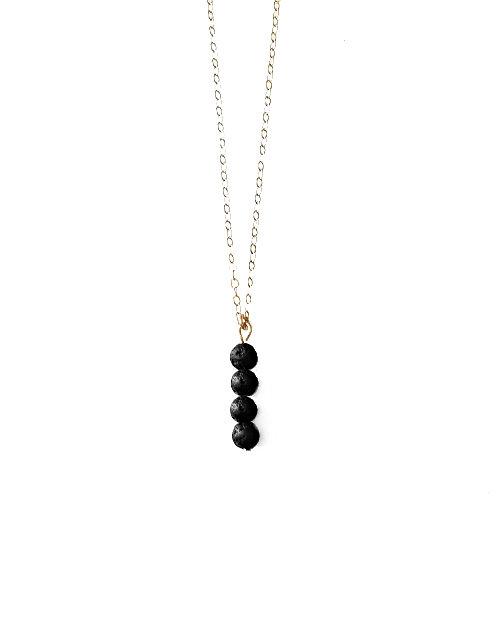Vertical Lava Diffuser Necklace
