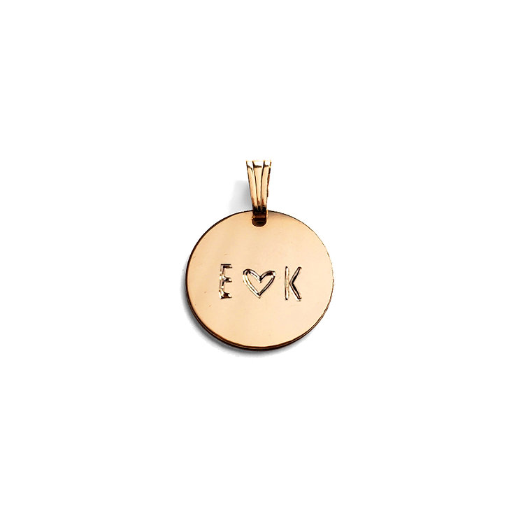 Personalized Disc Pendant | 5/8""