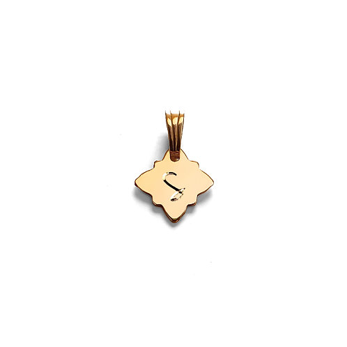 North Star Initial Pendant
