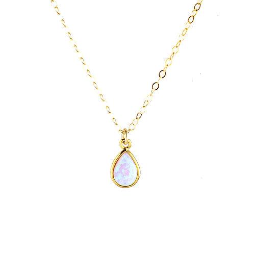 Opal Teardrop Choker