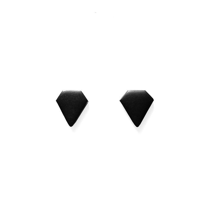 Matte Black Diamond Studs