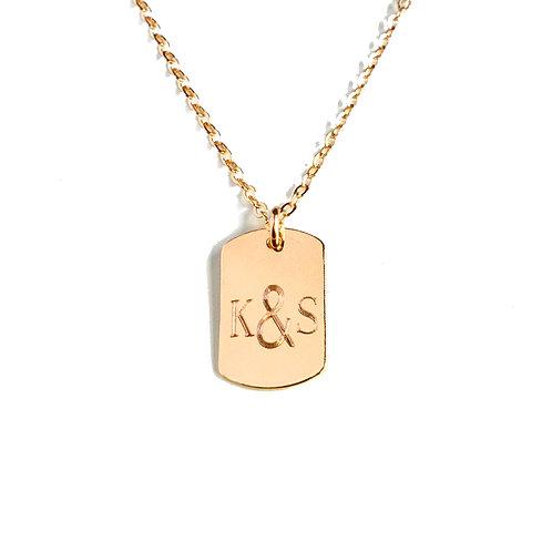 Monogram Dog Tag Necklace