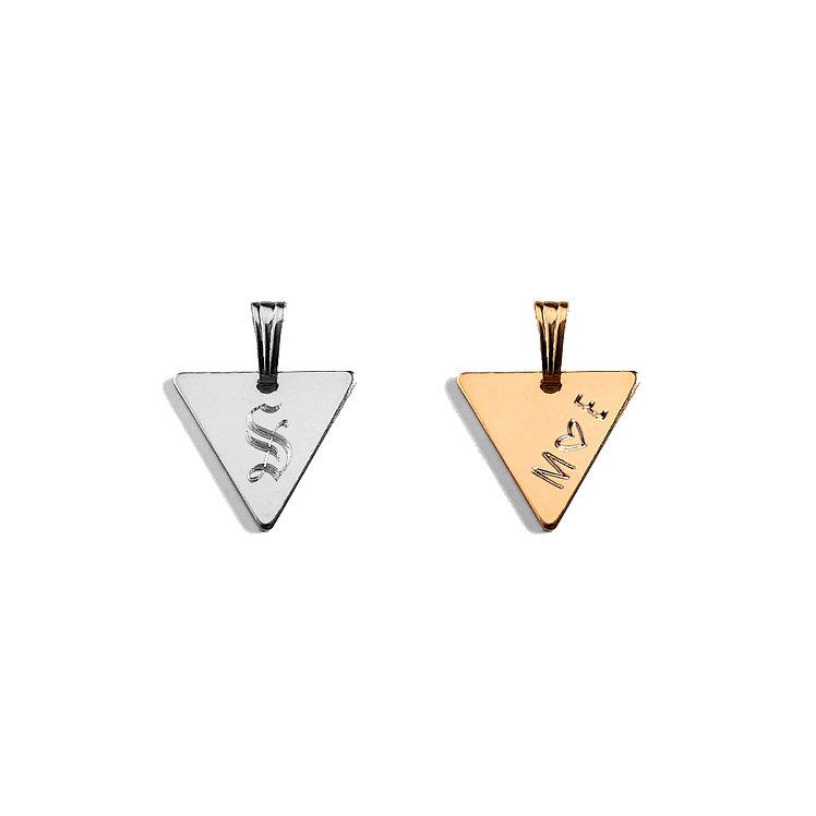 Triangle Initial Pendant