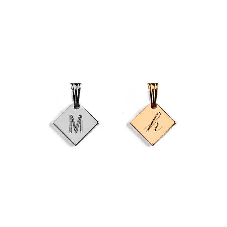 Mini Diamond Initial Pendant