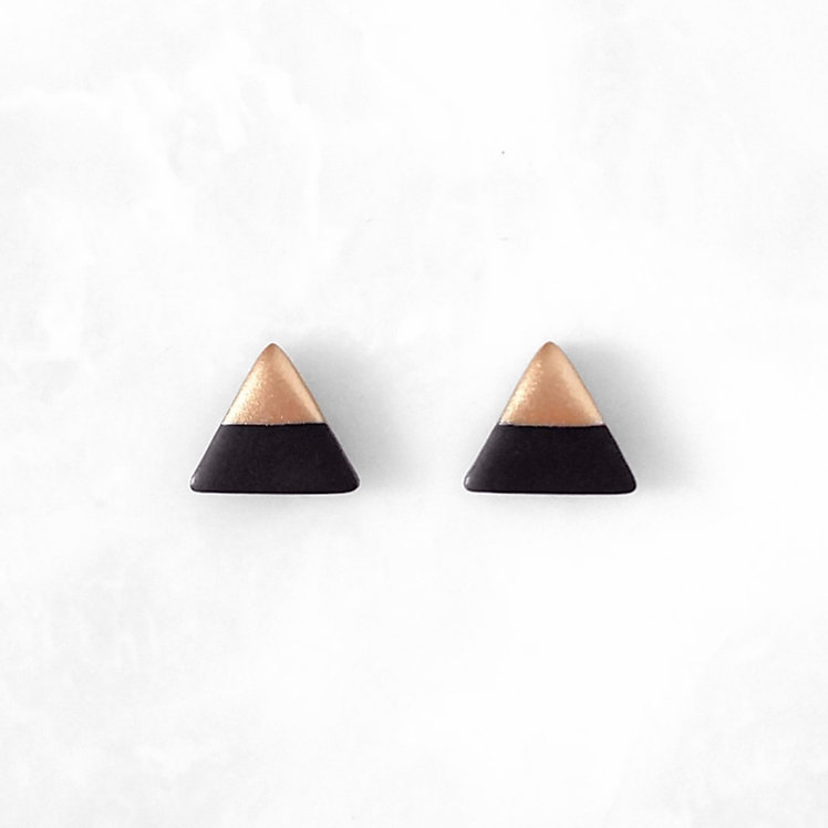Black Triangle Studs