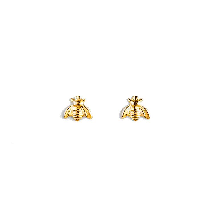 Tiny Bumblebee Stud Earrings